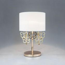 Настольная лампа с белым абажуром BOGATE*S 01095/1